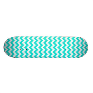 Aqua Color Chevron; zig zag 20 Cm Skateboard Deck