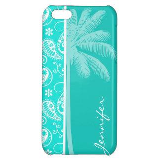 Aqua Color Paisley; Floral; Summer Palm iPhone 5C Case