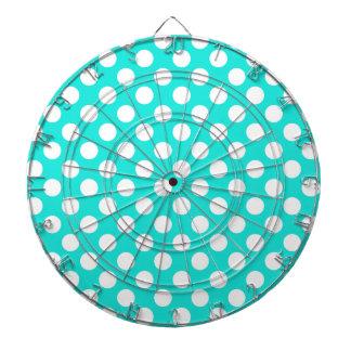 Aqua Color Polka Dots Dartboards