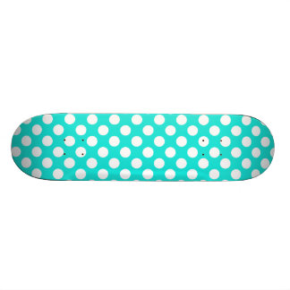 Aqua Color Polka Dots Skate Board Decks