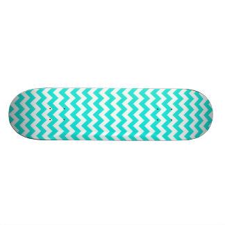 Aqua Colour Chevron; zig zag 20 Cm Skateboard Deck
