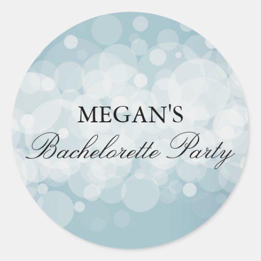 Aqua Confetti Bachelorette Party Sticker