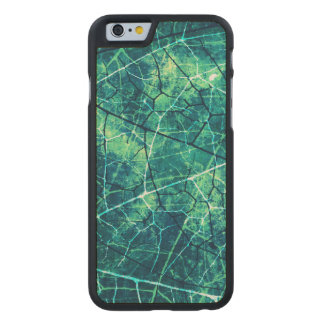 Aqua Cracked Lacquer Pattern Grunge Texture Carved® Maple iPhone 6 Case