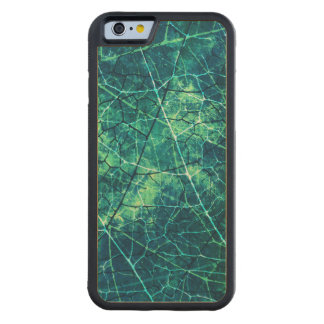 Aqua Cracked Lacquer Pattern Grunge Texture Maple iPhone 6 Bumper