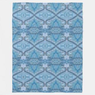 """Aqua"" Custom Fleece Blanket, Large"