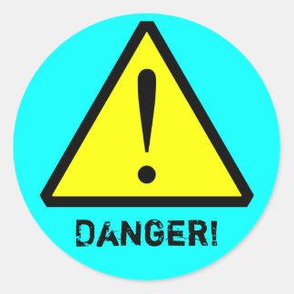 Aqua Customizable Warning Symbol Sticker