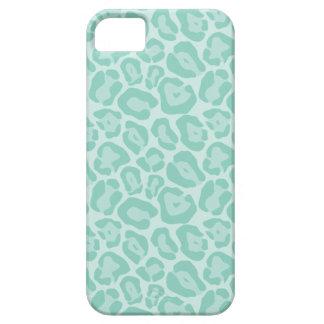 Aqua Cute Girly Animal Print Case For The iPhone 5
