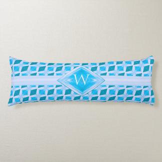 Aqua Diamond Ice Pattern Monogram Body Cushion