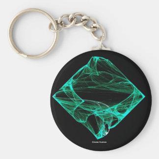 Aqua Diamond Keychain