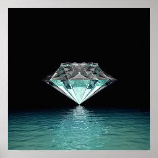 Aqua Diamond Poster
