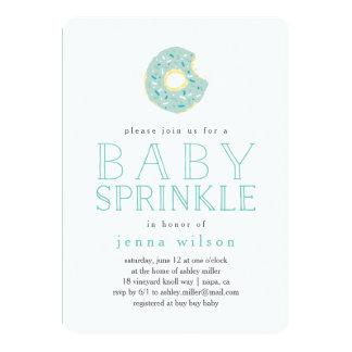 Aqua Donut Sprinkles | Baby Sprinkle Invitation
