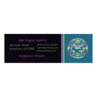 Aqua Dragon Medallion Pack Of Skinny Business Cards