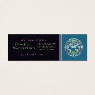 Aqua Dragon Medallion Mini Business Card
