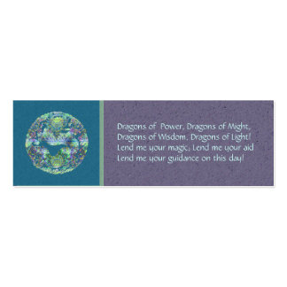 Aqua Dragon Spell Card Pack Of Skinny Business Cards