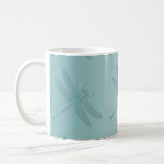 Aqua Dragonfly Coffee Mug