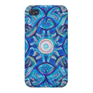 Aqua Dream Mandala Cover For iPhone 4