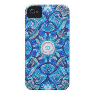 Aqua Dream Mandala iPhone 4 Case-Mate Cases