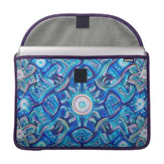 Aqua Dream Mandala Sleeves For MacBook Pro