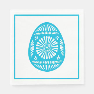 Aqua Easter Egg Classic Chic Disposable Serviette