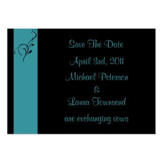Aqua Elegance Mini Save The Date Card Business Cards