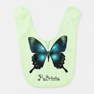 Aqua  Elegant Whimsical  Butterfly Bib