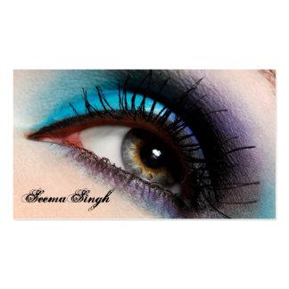 Aqua Eye Makeup Artist Business Cards