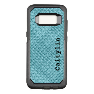 : Aqua Faux Basket Weave Pattern OtterBox Commuter Samsung Galaxy S8 Case