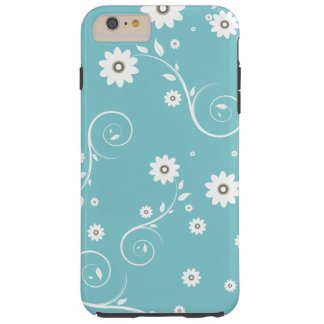 Aqua Floral iPhone 6/6s Plus Case
