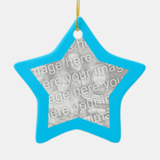 Aqua Frame Star Ornament