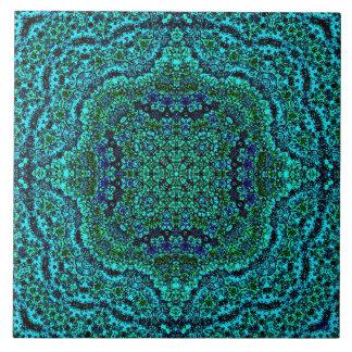"""""""Aqua Geo Jewel"""" Mandala Tile"""