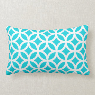 Aqua Geometric Lumbar Cushion