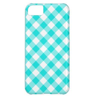 Aqua Gingham iPhone 5C Case