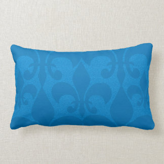Aqua Gold Fleur-de-Lis Design Pillow