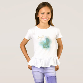 Aqua Gold Mermaid Sparkle T-Shirt