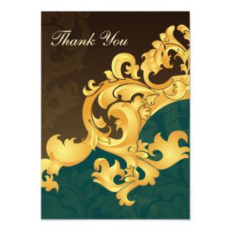 aqua gold wedding ThankYou Cards Invites