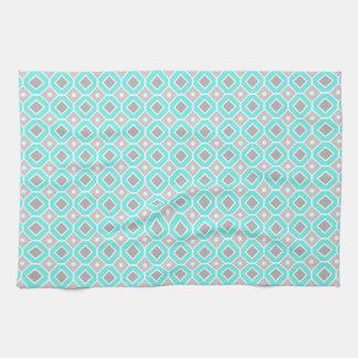 Aqua Gray Pattern Kitchen Cloth Towel