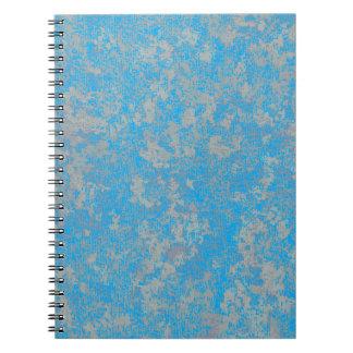 Aqua Green Background Spiral Notebooks