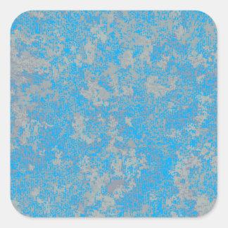 Aqua Green Background Square Sticker