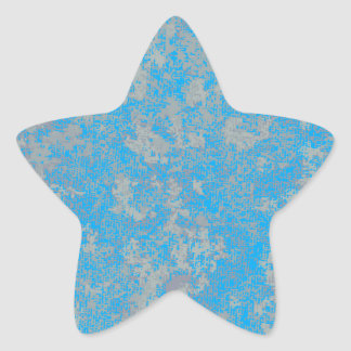 Aqua Green Background Star Sticker