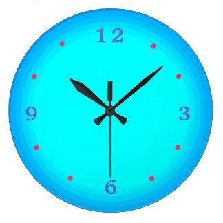 Aqua/green/ Blue Red > Kitchen Clock