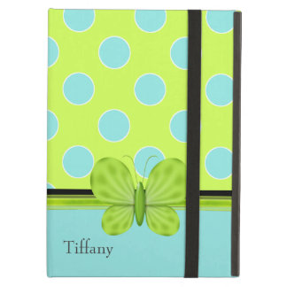 Aqua & Green Polka Dots iPad Air Case