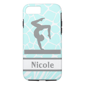 Aqua Grey Gymnastics Cell Phone Case