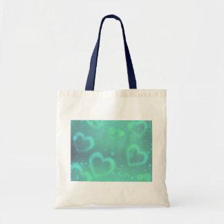 Aqua Heart Design Small Tote Bag