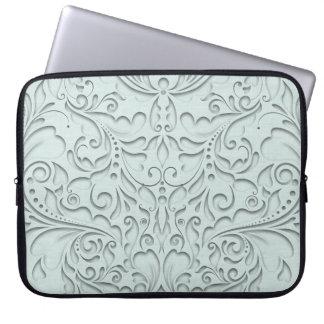Aqua HeartyChic Laptop Computer Sleeve