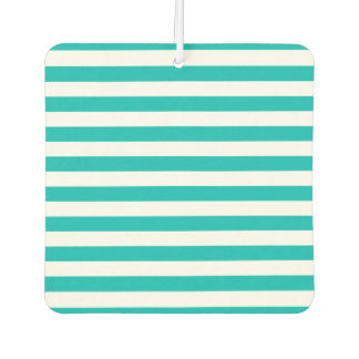 Aqua Horizontal Stripes Car Air Freshener