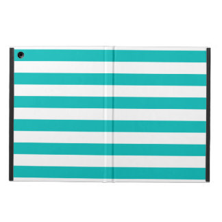 Aqua Horizontal Stripes Case For iPad Air