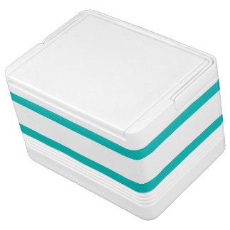 Aqua Horizontal Stripes Cooler