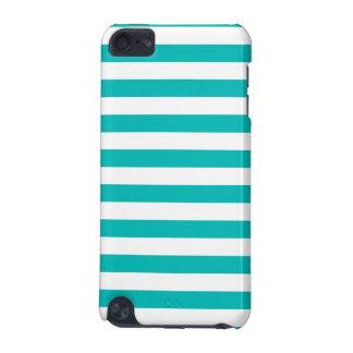 Aqua Horizontal Stripes iPod Touch 5G Case