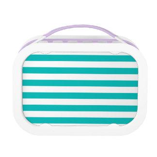 Aqua Horizontal Stripes Lunch Box