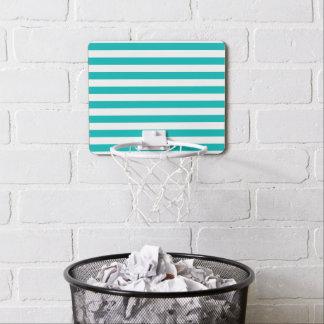 Aqua Horizontal Stripes Mini Basketball Hoop
